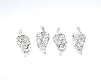 BR748 - Set of 4 charms silver metal pen