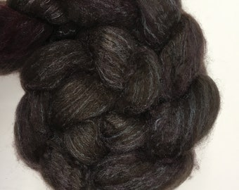 Spinning Fibre Bluefaced Leicester & Silk hand dyed superwash (E05)