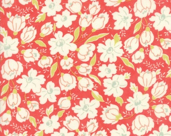 """Coney Island Buttercup Candy Apple Red, END Of BOLT 16"""" x 44/45"""", Quilt Fabric by Fig Tree, 20285 12, Moda Fabrics"""