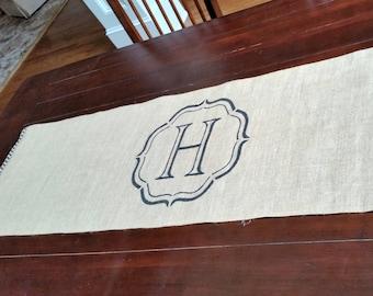 Monogram handpainted Table Runner