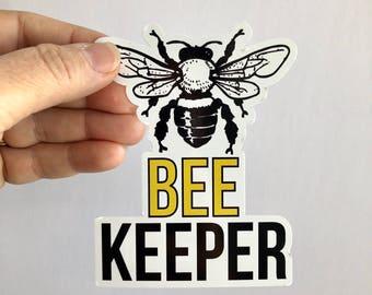 beekeeper diecut bumper sticker or laptop decal