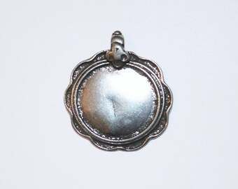 Tribal Silver Pendant, Silver Charm, Gold Charm, Brittanium, Pewter Charm, Silver Jewelry, Bali