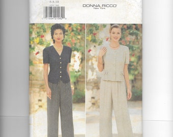 Butterick Misses'  Top and Pants Pattern 4004