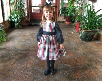 Sale! Toddler classic plaid Christmas dress