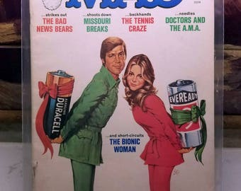 Mad Magazine: January 1977, Issue #188 - Bad News Bear/The Bionic Woman (1977)