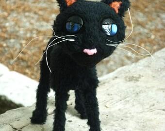 Coraline cat plush toy