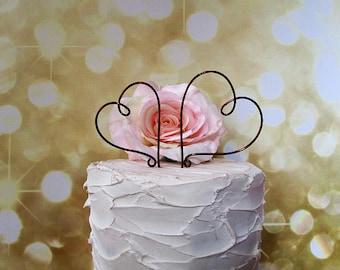 Hearts Wedding Cake Topper,Wedding Cake Decoration,Vintage Wedding Decoration,Wine Wedding Cake Topper, Bridal Shower,Anniversary Decoration