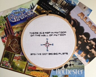The Front Bottoms - Maps - Cross Stitch