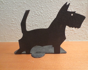 Vtg Scottish Terrier Dog Book End/ Old Metal Cut Out Scottie Terrier / Single Bookend / Scotty Dog Scottie Dog