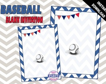 Baseball Printable Invitation Template, All Star, vintage baseball, baseball birthday party, sports, add your own text and create your own