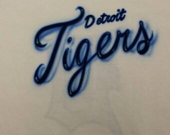 Custom airbrush Detroit Tiger