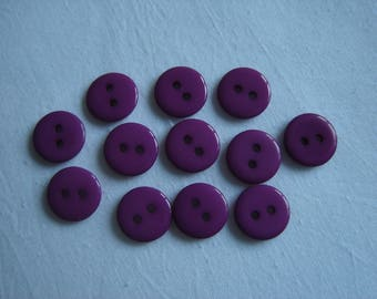 12 purple resin buttons / / 12 mm