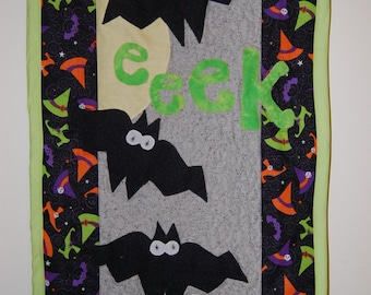 Halloween Bats Quilted Wall Hanging