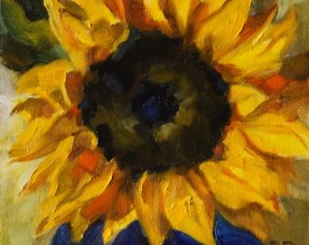 Sunflower - fine art print - yellow - bright - happy - Pamela Poll