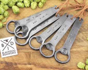 Personalized Bottle Opener | Personalization Gift, Hand Forged Iron, Custom Beer Opener | Great Gift for Men, Groomsmen, or Fathers Day