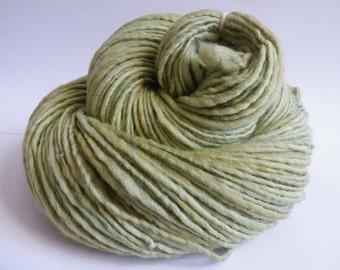 Free Shipping - Handspun Yarn - Celery - 190 yards of merino wool
