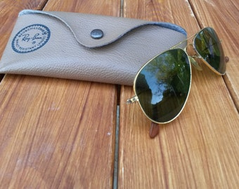 Vintage Ray Ban sunglasses bausch and lomb with original B&L case from around the 60's