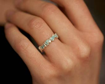 Turquoise Ring. Turquoise Band. Turquoise Band Ring. Light Blue Turquoise Wedding Band Ring. Light Blue Turquoise Band Ring.