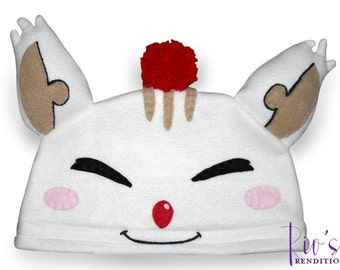 Final Fantasy Crystal Chronicles - Moogle Hat / Fleece Hat / Winter Hat / Final Fantasy Hat / Moogle Hat / Video Game Characters