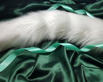 Kitten Tail Luxury White Cat cosplay, Anime, pet play,