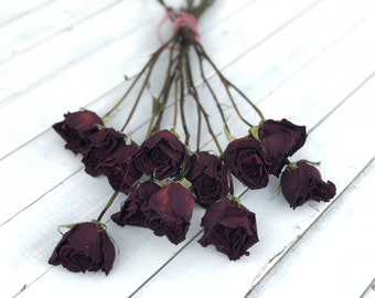 real dried  Roses, preserved roses, dried flowers, Air dried flowers