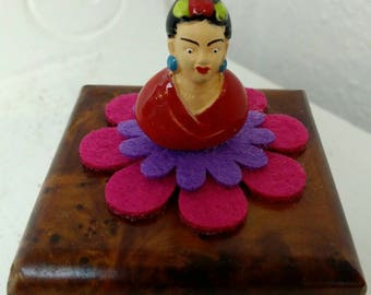 Silly Sausage Studios quirky Frida little wooden ring box, secrets box, stash box - hobbit hole for tiny elves?!