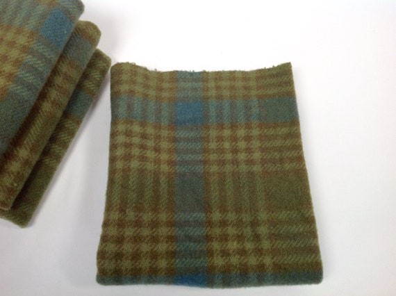 1/4 yard, Whispering Pine Green, Hand Dyed Wool Fabric, W457, for rug hooking and applique, Country Green, Green Blue Wool,