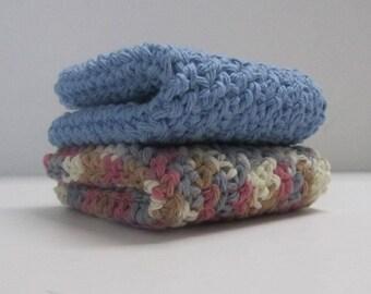 2 Washcloths Dishcloths ~Ready to Ship~