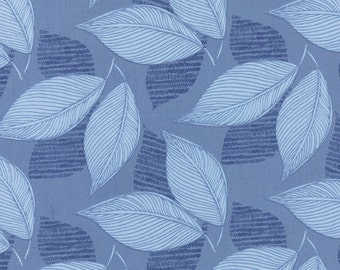 Moda Fabric - Aria - Kate Spain - 27233 16 - Leaves - Cotton fabric by the yard(s)