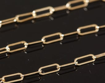 14k Gold Filled Chain Bulk - Drawn Cable Chain 5mm x 2mm - SAVE 5 - 10% on bulk lengths 5 to 12 feet
