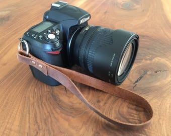 Leather Camera Strap Leather Strap DSLR Camera Strap Personalized Camera Canon Nikon Olympus Leica Vintage Camera Strap 3rd Anniversary Gift