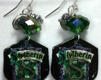 Slytherin Dangle Earrings