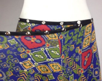 ethnic skirt, tribal skirt, wrap skirt, adjustable skirt, reggae skirt, one size skirt, snap skirt