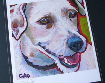 Wire Hair JACK RUSSELL Dog 8x10 Signed Art Print from Painting by Lynn Culp