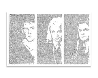The Silver Trio (Neville, Luna, and Ginny)