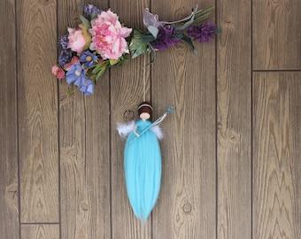 Kallithea Charm Grey Angel; Needle Felted Dolls; Fairy Dolls; Waldorf Inspired; Hanging Dolls