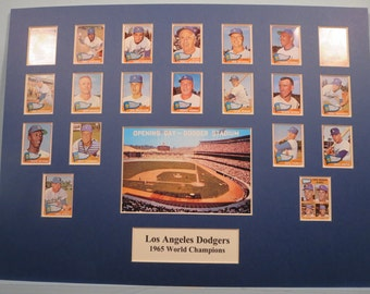 Los Angeles Dodgers led by Sandy Koufax & Don Drysdale  - 1965 World Champions