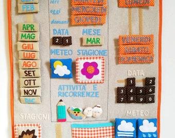 Perpetual calendar, educational calendar, cloth calendar, custom