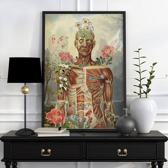 Nature is all around Muscles study art Wall decor art, Anatomical art decor, anatomical art, Muscles Wall flower SKA230WA3