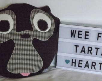 Wool animal face cushions
