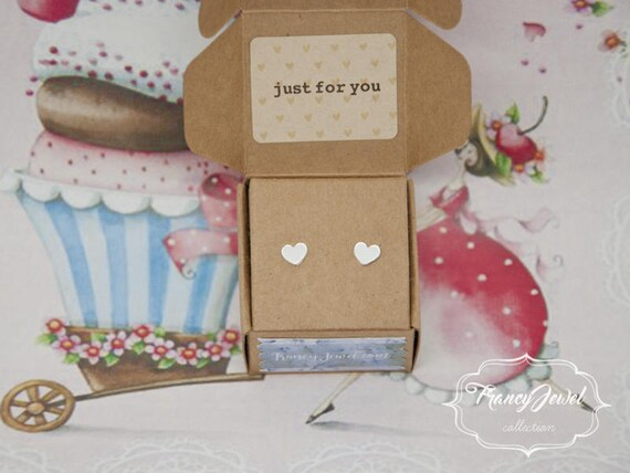 Heart earrings, fine silver earrings, 999 silver jewelry, little hearts earrings, birthday gift, bridesmaid gift, wedding gift