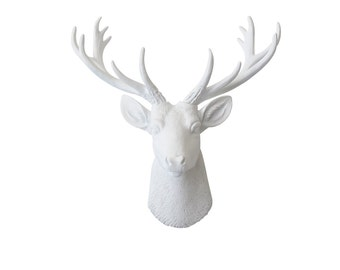 Mini Deer Head Wall Mount - All White - Home Decor Wall Mount SD0101