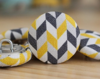 Fabric Covered Buttons - Geometric IV - 1 Medium Fabric Buttons