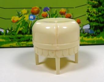 """MARX BATHROOM STOOL, 1950's, Hard Plastic, 3/4"""" Traditional Style, Vintage Dollhouse Furniture"""
