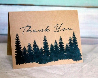 Thank You Cards Set of 10, Thank You Notes, Rustic Thank You Cards, Simple Thank You Notes, Blank Cards, Rustic Wedding Thank You Cards set
