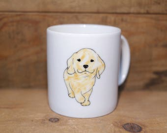 Hand painted animal mug cup - Cute mug cup - Coffee mug - Golden Retriever dog mug cup