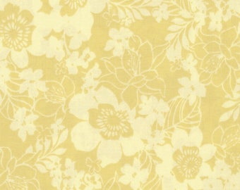 Mary Jane Lemon Cotton Fabric by the half yard