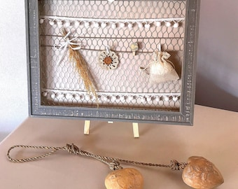 Rustic frame with chicken wire