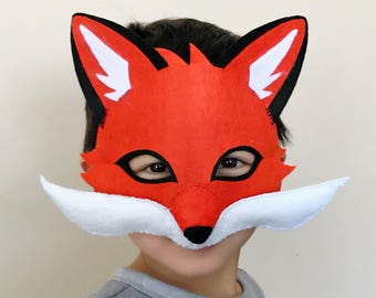 Red fox mask, felt mask,fox mask, animal mask