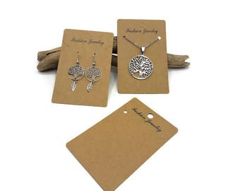 40 cartons earrings or necklace - large earrings or necklace 100 mm x 65 mm - A277